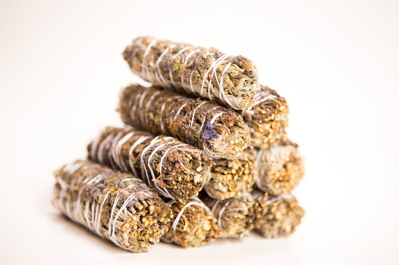 10 White Sage & Lavender Mix Smudge Sticks (Bulk Smudge Bundle)