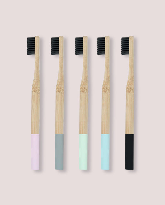 Pack de 5 brosses à dents - Pastel
