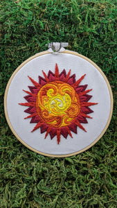 Sun and Moon Embroideries