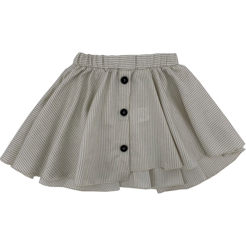 Gaya Lab Striped Skirt And Shirt Set - IVORY