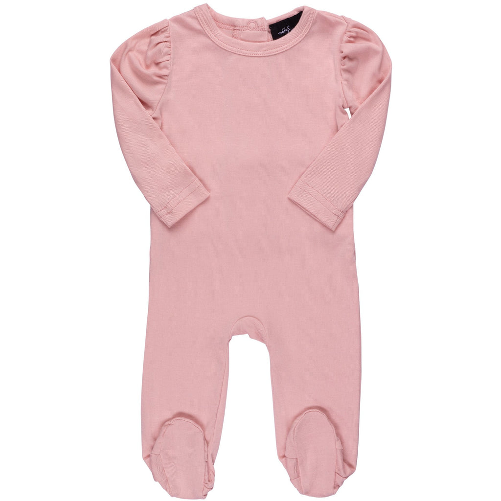 Cuddle & Coo Puffed Sleeve Footie - PINK