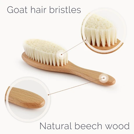 Natemia Wooden Baby Hair Brush & Comb Set - Multi