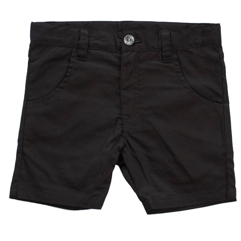 Crew Kids Chino Shorts - BLACK