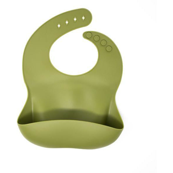 Baby Bar & Co Silicone Baby Meal Bibs - ARMY GREEN - OS