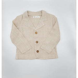 Latte Baby & Child Linen Blazer - LINEN
