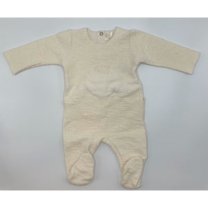 Latte Baby & Child Bollo Footie - IVORY