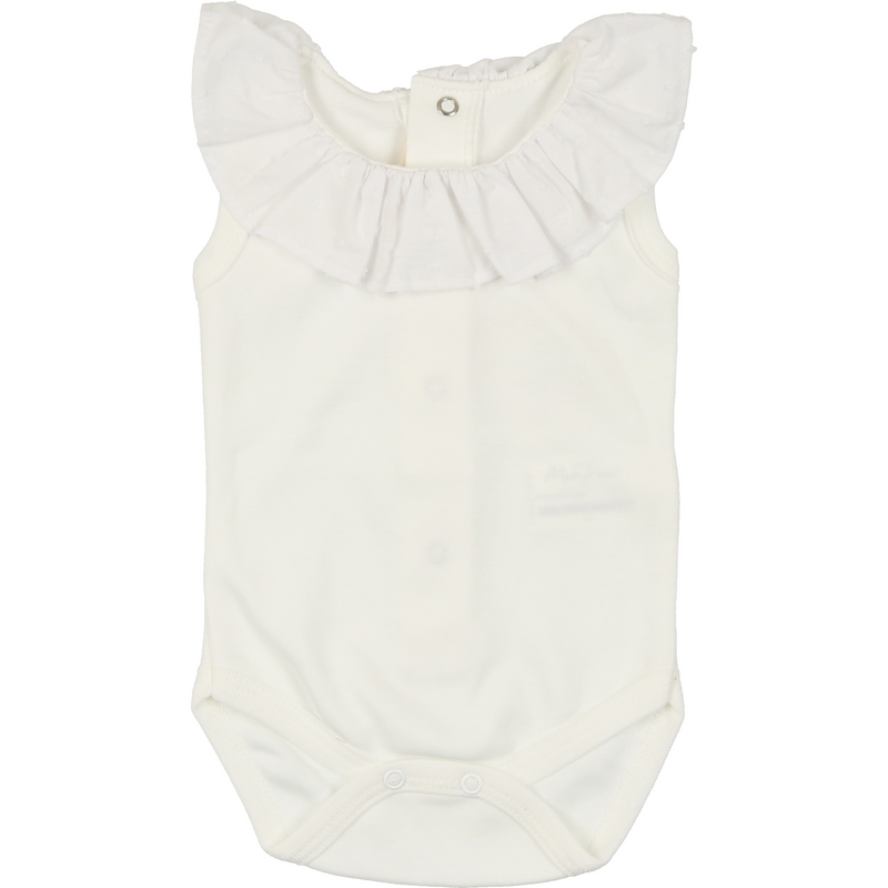 Mon Tresor Royal Ruffles Bodysuit - WHITE