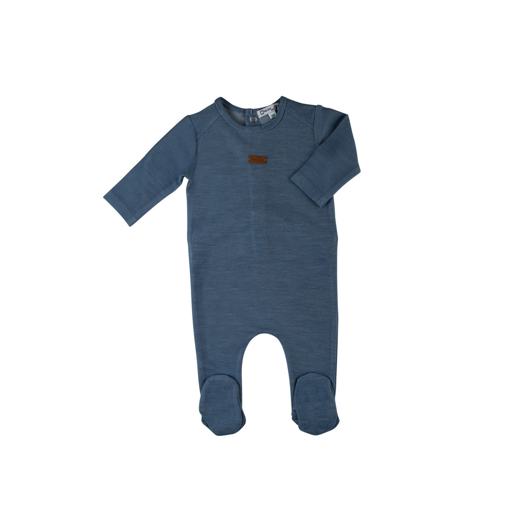 Cream Bebe Soft Jean Footie - Denim