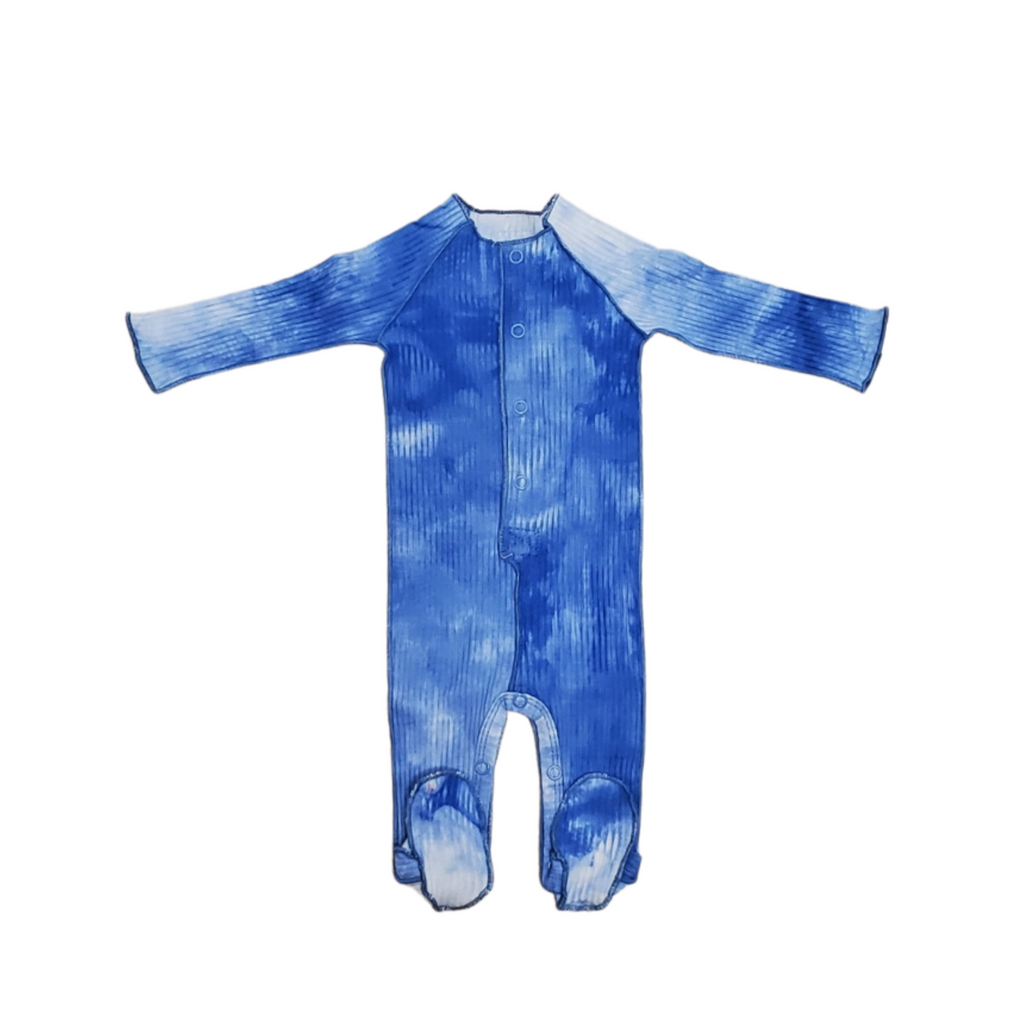 BRB Tie Dye Footie - Denim