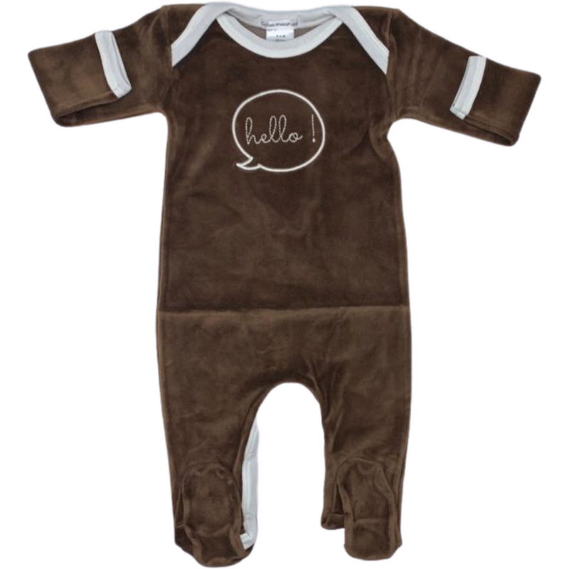 Coton Pompom Hello Footie - BROWN
