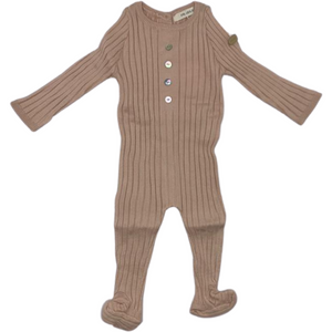 Fragile Baby Knit Footie - BLUSH