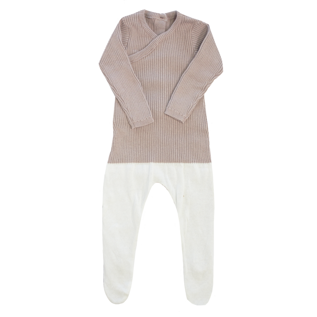 Kipp Colorblock Knit Wrap One Piece - MAUVE