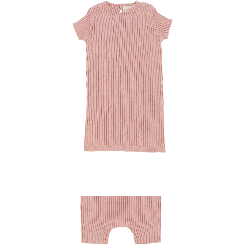 Lil Leggs Knit Short 2Pc Set - PINK