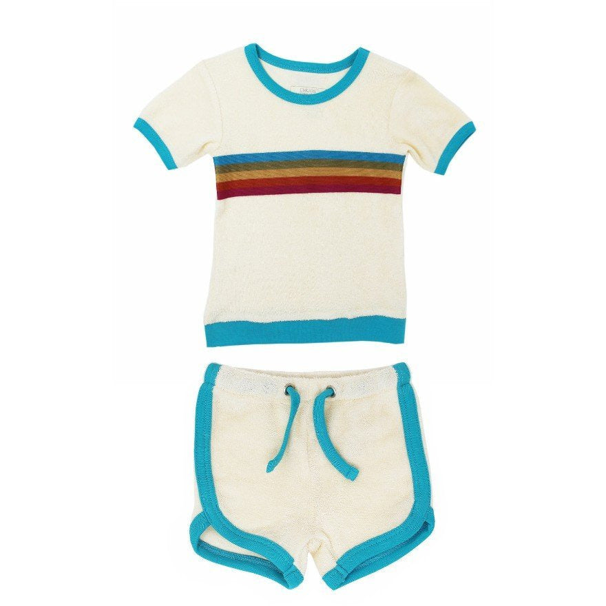 Loved Baby Terry Cloth Short Set - TEAL