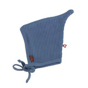 Blinq Knit Button Bonnet - Ocean Blue