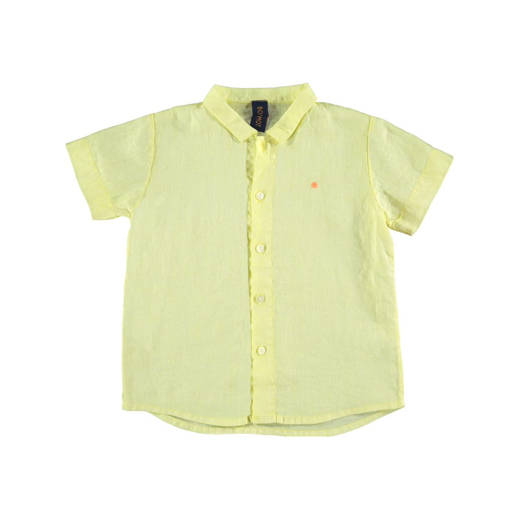 Bonmot  Linen Dot Shirt - Yellow