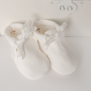 Cocoon Baby Baby Shoes - WHITE - 0M-3M