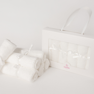 Cocoon Baby Washcloths Set Of 6 - WHITE - OS