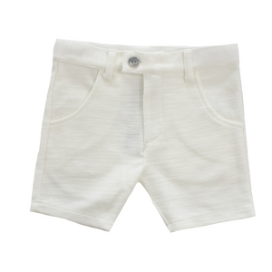 Kipp Textured Shorts - WHITE