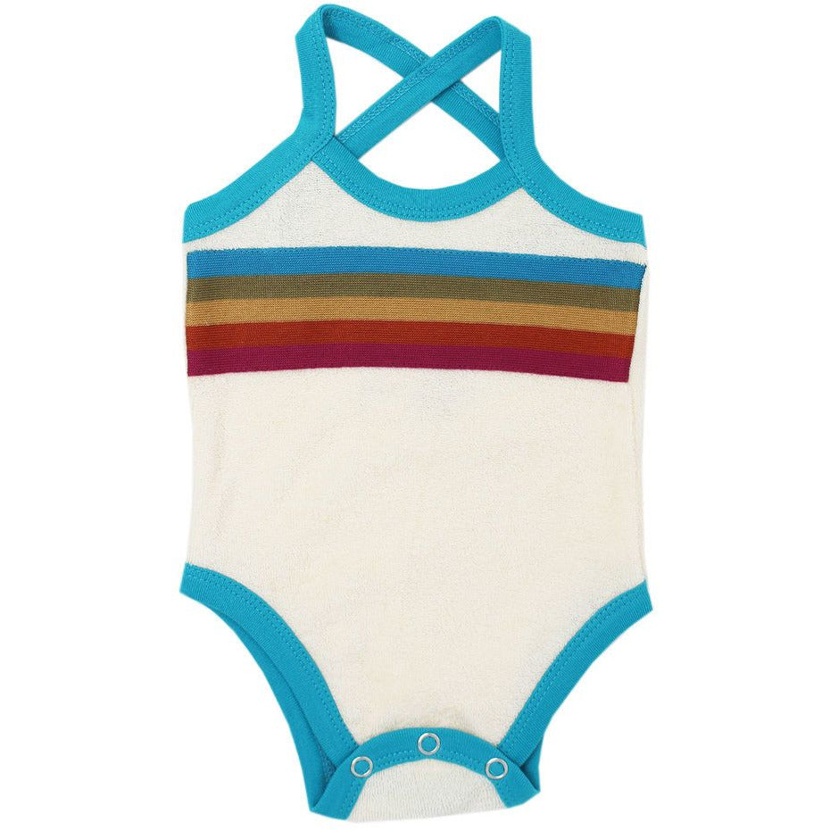 Loved Baby Terry Cloth Bodysuit - TEAL