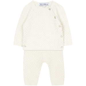 Tartine Et Chocolat Baby Knit 3Pc Set - IVORY