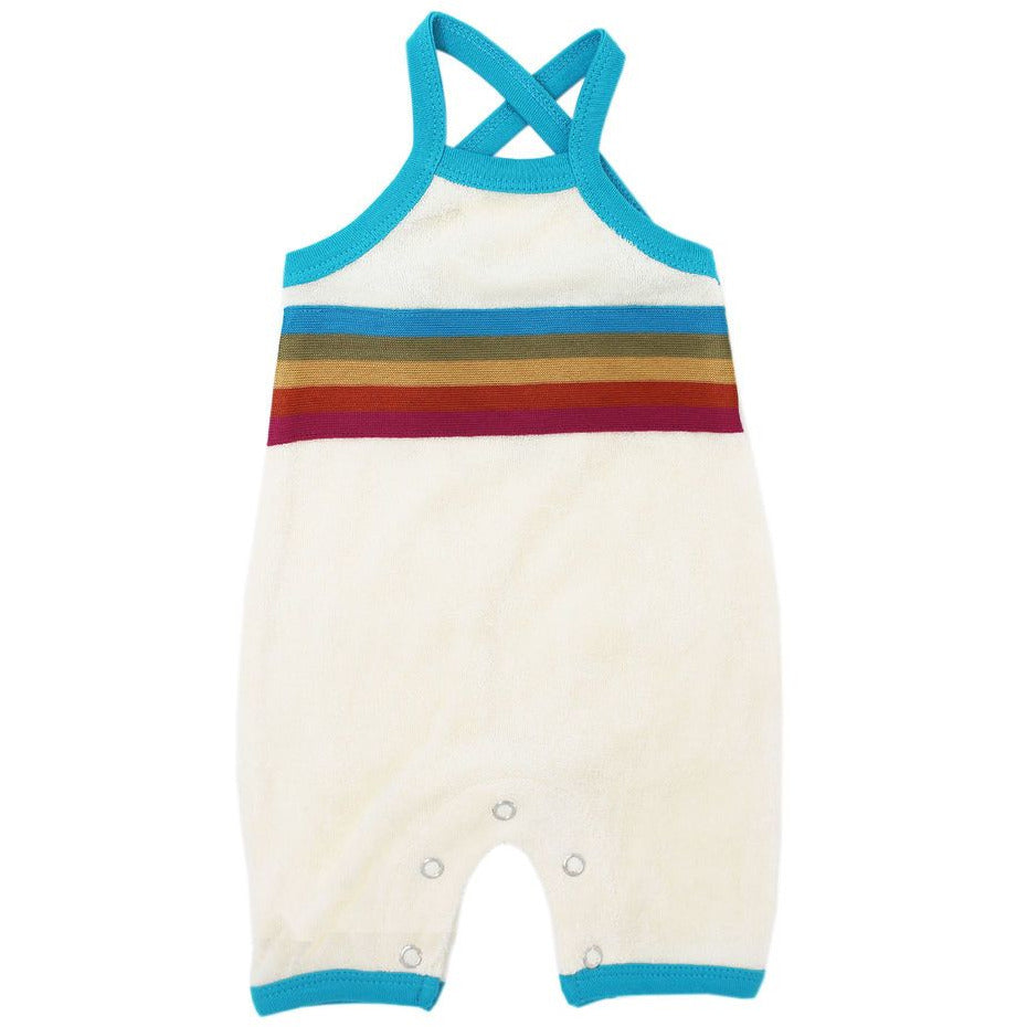 Loved Baby Terry Cloth Overall - TEAL