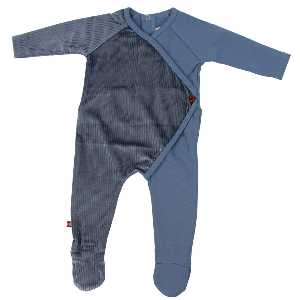 Blinq Two Tone Wrap Footie - ICY BLUE