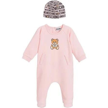 Moschino Footie And Hat Set - PINK - 6M