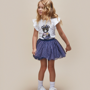Hux Baby Ditzy Animal Tulle Skirt - DARK BLUE