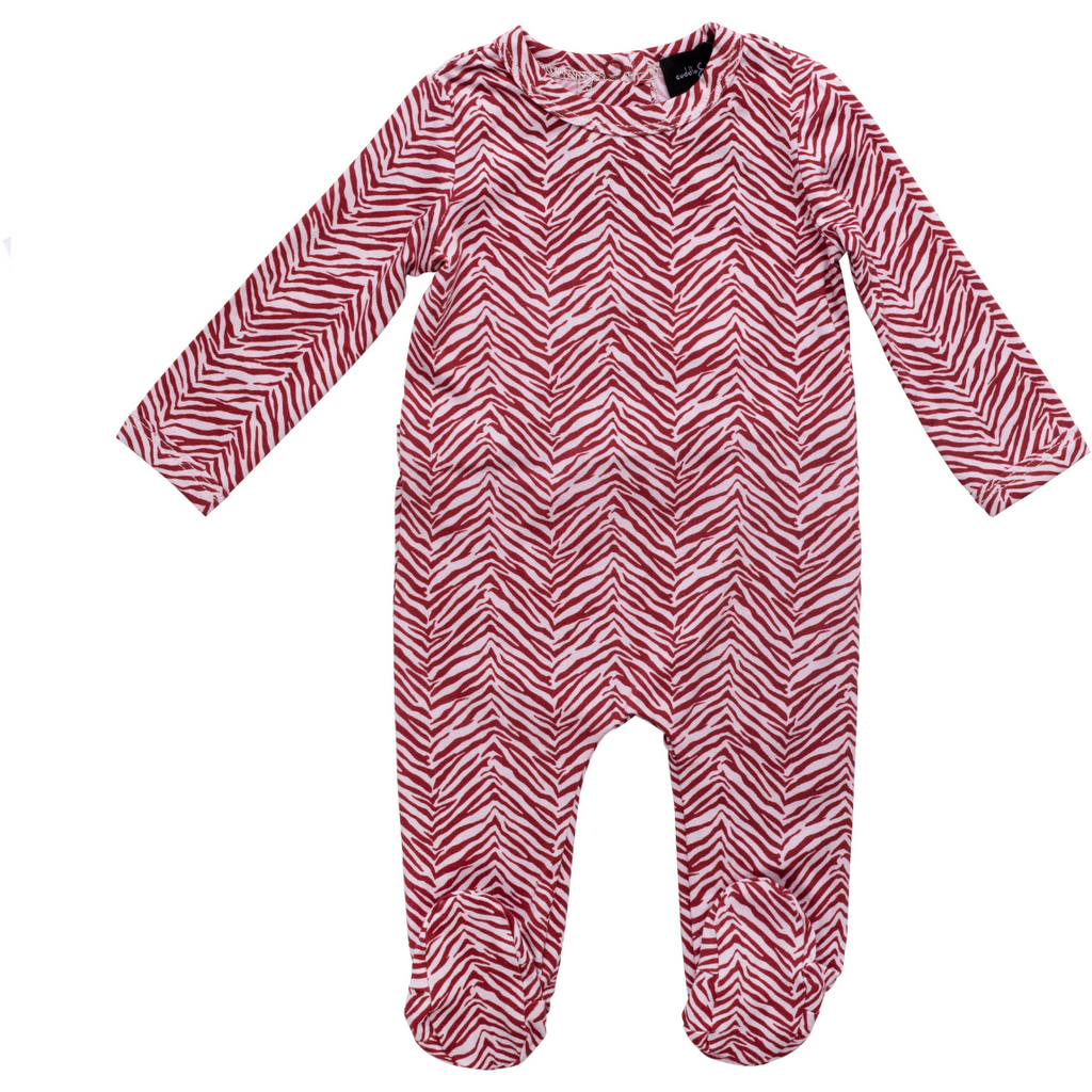 Cuddle & Coo Zeebra Footies - Red/White
