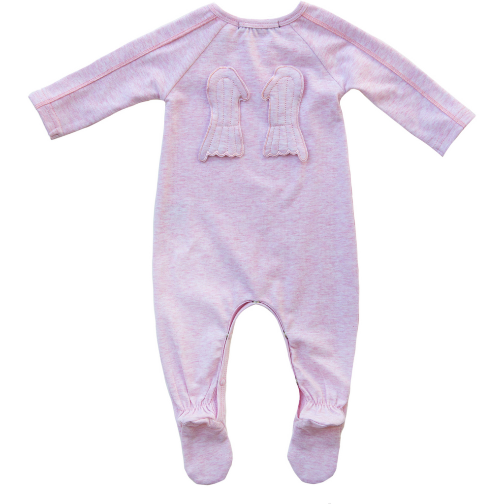 Noggi Angel Wings Footie - Mauve