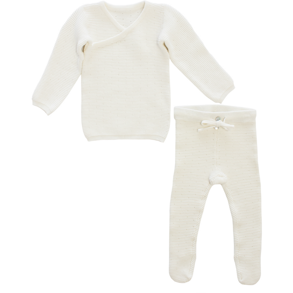Kipp Long Dot Knit Set  - White
