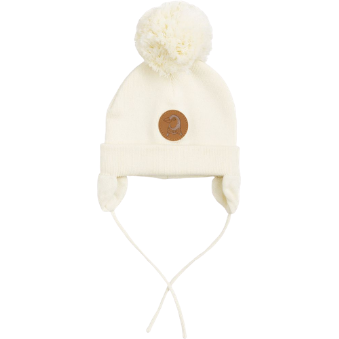 Mini Rodini Penguin Baby Hat - IVORY