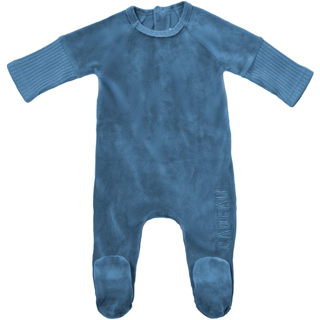 Caudeau Dipped Ribbed Footie - BLUE