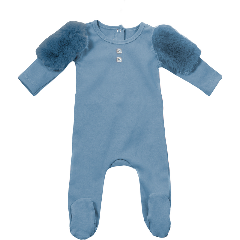 Caudeau Cozy Cadeau Footie - DENIM