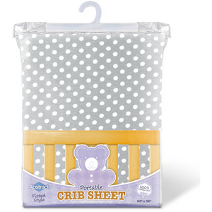 Ghi Imports Dot Portable Crib Sh - GREY - PORTA 24X38