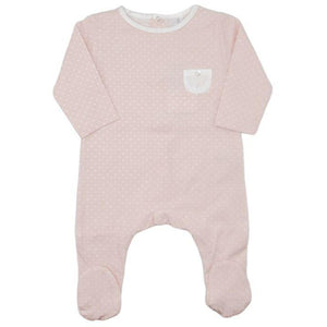 Laranjinha Dots Pocket Footie - PINK