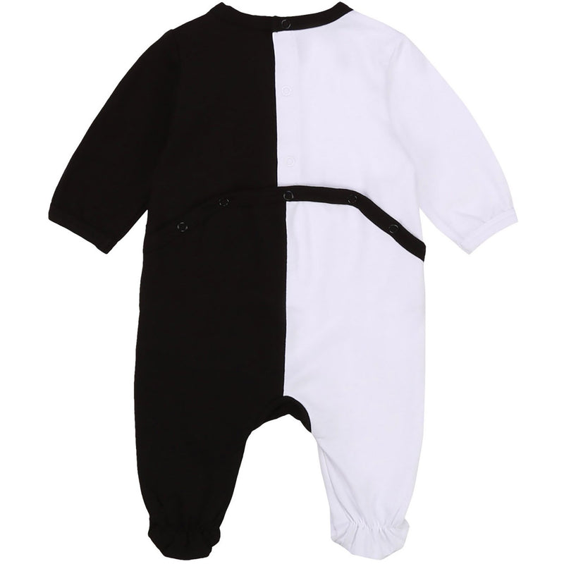 Karl Lagerfeld Colorblock Logo Footie - BLACK/WHITE