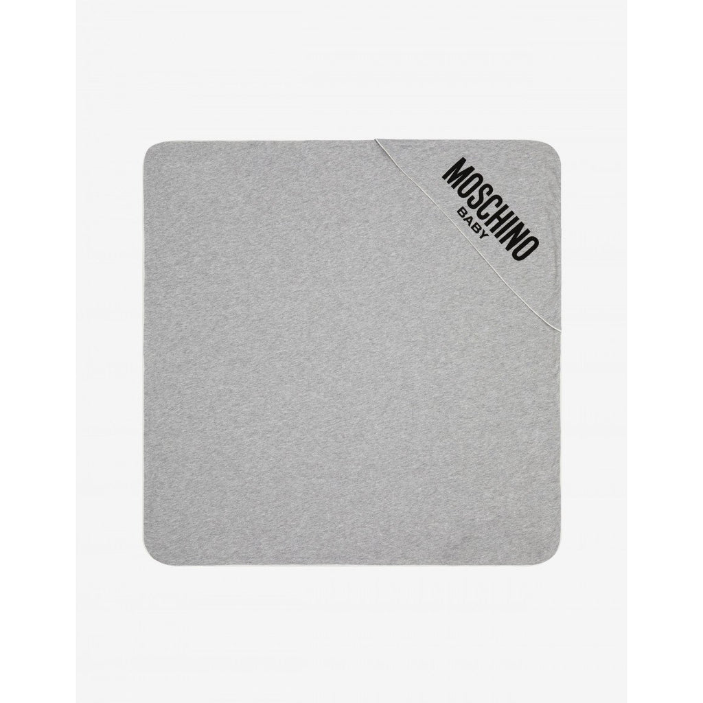 Moschino Grey Logo Blanket - RED - UNI