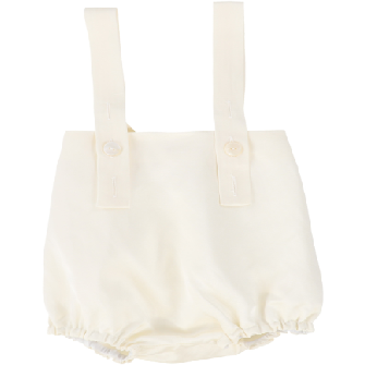 You & Me Black Suspender Bloomers - WHITE