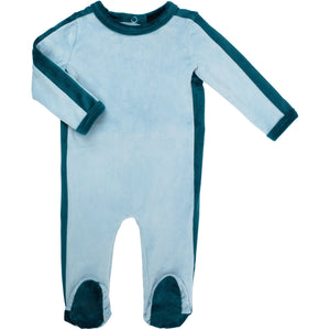 Cuddle & Coo Outline Footie - BLUE