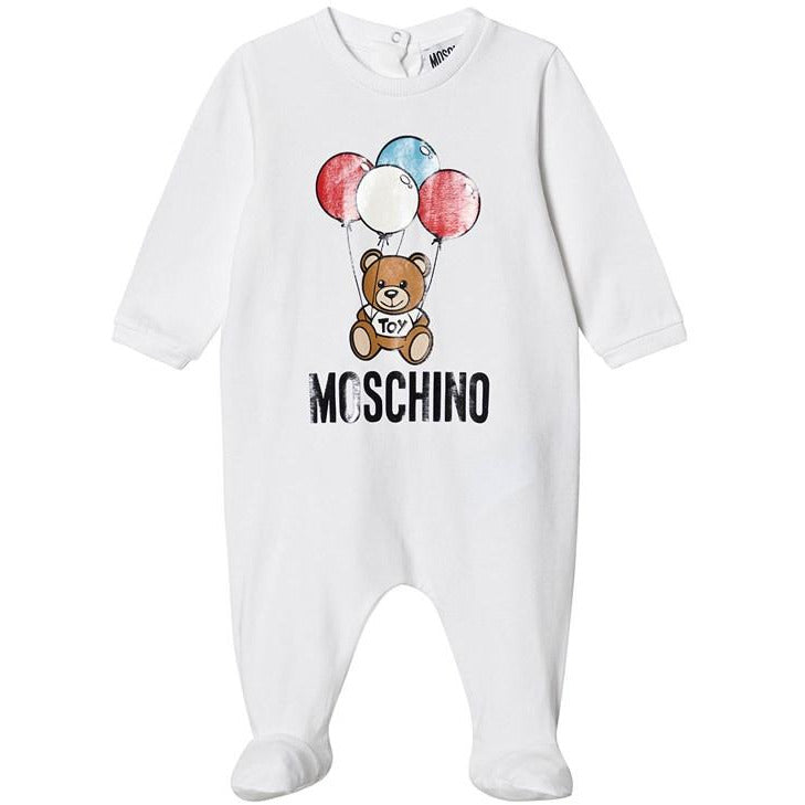 Moschino Bear Balloon Gift Box - WHITE