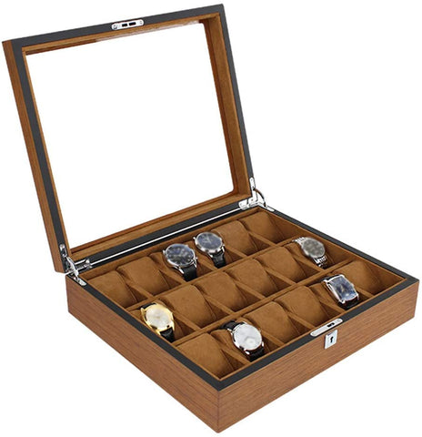 18PCS LUXURY WOODEN WATCH COLLECTOR BOX