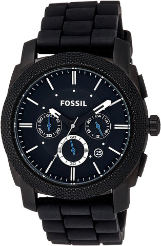 FOSSIL Machine Chronograph Black Silicone FS4487