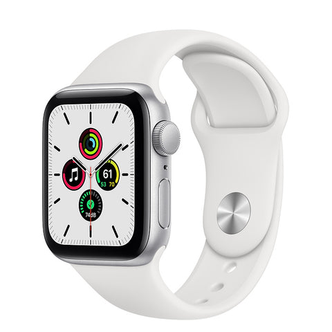 Apple Watch SE 40MM Silver Aluminum GPS – White Sport Band