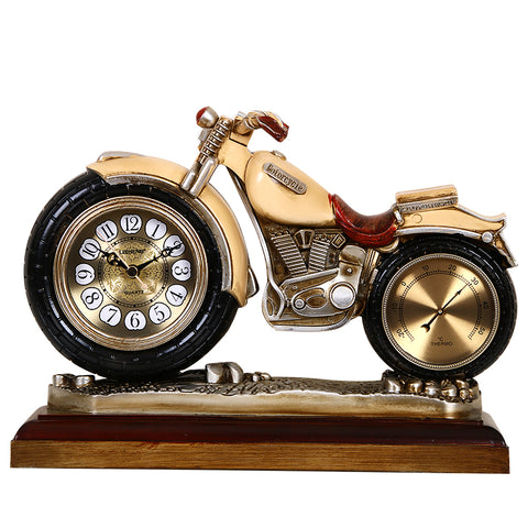 Personalized motorcycle table clock European retro living room