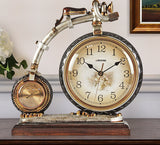 SILENT SWEEP HANDS CLOCK BICYCLE TABLE CLOCK