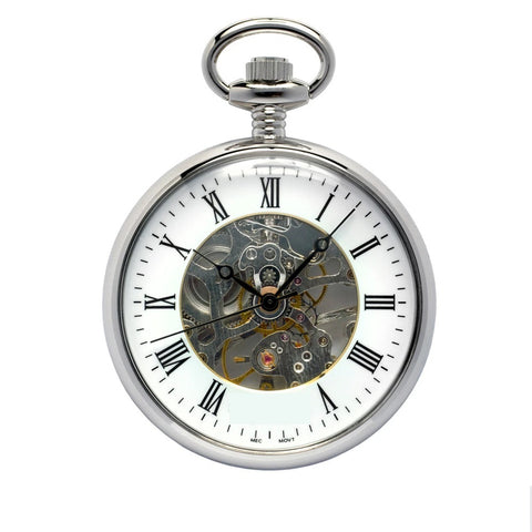 WINDING POCKET WATCH - WIMSONS WSPW95 SILVER