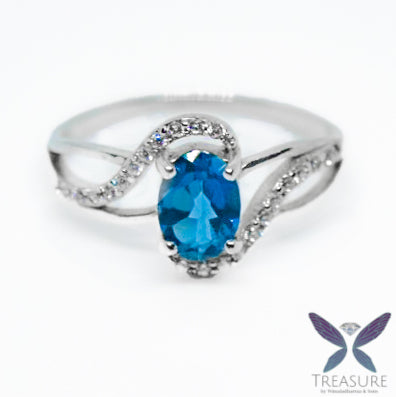 Blue Topaz ring SBTR03