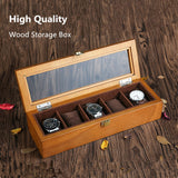 5PCS LUXURY WOODEN WATCH COLLECTOR BOX